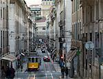 Le tram de la vieille ville, Lisbonne, Portugal, Europe