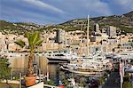 Yacht marina in Port de Monaco, Monte Carlo City, Monaco, Mediterranean, Europe