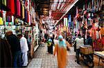 Dans le souk, Marrakech, Maroc, l'Afrique du Nord, Afrique