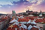 St. Vitus cathedral and St. Nicholas church, Prague, Czech Republic, Europe
