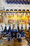 Pierre de l'onction, l'église du Saint-Sépulcre, vieille ville, UNESCO World Heritage Site, Jérusalem, Israël, Moyen-Orient