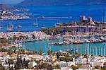 Le port et le château de Saint Pierre, Bodrum, Anatolie, Turquie, Asie mineure, Eurasie