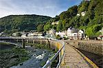 The coastal village of Lynmouth on a summer morning, Exmoor National Park, Devon, England, United Kingdom, Europe