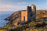 Abandoned tin mines on the Cornish cliffs near Botallack, Cornwall, England, United Kingdom, Europe