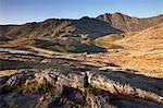 Llyn Llydaw dans le Parc National de Snowdonia, au pays de Galles, Royaume-Uni, Europe