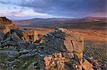 Leuchten Sie Wintermorgen auf Sharpitor, Dartmoor Nationalpark, Devon, England, Vereinigtes Königreich, Europa