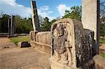 Ruines Palace de Cyriel, Nord, Anuradhapura, Site du patrimoine mondial de l'UNESCO, Province centrale du Nord, Sri Lanka, Asie