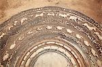 Ruines de pierre de lune au Palais de Cyriel, Nord, Anuradhapura, UNESCO World Heritage Site, Province centrale du Nord, Sri Lanka, Asie