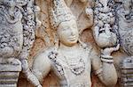 Guardstone at Ratna Prasada, Northern Ruins, Anuradhapura, UNESCO World Heritage Site, North Central Province, Sri Lanka, Asia
