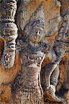 Guardstone à Hatadage, Quadrangle, Polonnaruwa, Site du patrimoine mondial de l'UNESCO, Province centrale du Nord, Sri Lanka, Asie