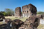 Königlicher Palast, Zitadelle, Polonnaruwa, UNESCO Weltkulturerbe, nördlichen Zentralprovinz in Sri Lanka, Asien