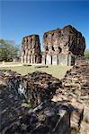 Palais Royal, Citadelle, Polonnaruwa, patrimoine mondial de l'UNESCO, Province centrale du Nord, Sri Lanka, Asie