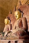 Seated Buddhas, Dhammayangyi Pahto, Bagan (Pagan), Myanmar (Burma), Asia