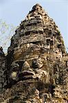 Porte Nord, Angkor Thom, parc archéologique d'Angkor, Site du patrimoine mondial de l'UNESCO, Siem Reap, Cambodge, Indochine, l'Asie du sud-est, Asie