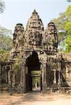 East Gate, Angkor Thom, parc archéologique d'Angkor, Site du patrimoine mondial de l'UNESCO, Siem Reap, Cambodge, Indochine, l'Asie du sud-est, Asie