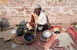 Snake charmer at rural cattle fair, Sonepur, Bihar, India, Asia