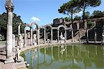 Villa, Canal de Canopus, patrimoine mondial de l'UNESCO, Tivoli, Rome Hadrien, Lazio, Italie, Europe