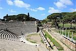Amphithéâtre, Ostia Antica, Rome, Lazio, Italie, Europe