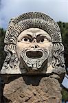 Masque de théâtre orner, Ostia Antica, Rome, Lazio, Italie, Europe