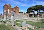 Forum romain, Ostia Antica, Rome, Lazio, Italie, Europe