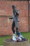 Sculpture of singer songwriter Billy Fury, Liverpool, Merseyside, England, United Kingdom, Europe