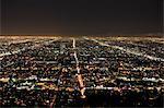 Los Angeles at night, Los Angeles, California, United States of America, North America