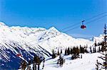 Peak 2 Peak Gondola, entre Whistler et Blackcomb montagne, station de Ski de Whistler Blackcomb, Whistler, Colombie-Britannique, Canada, Amérique du Nord