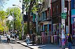 Kensington Market, a designated National Historic Site of Canada, Toronto, Ontario, Canada, North America