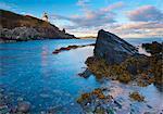 West Quoddy phare, Lubec, Maine, New England, États-Unis d'Amérique, l'Amérique du Nord