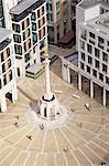 Ansicht der Paternoster Square und Spalte, genommen von der goldenen Galerie, St. Paul's Cathedral in Stadt von London, London, England, Vereinigtes Königreich, Europa
