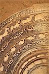 Moonstone, Mahasena's Palace, UNESCO World Heritage Site, Anuradhapura, Sri Lanka, Asia