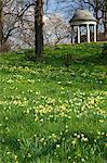 Temple d'Eole au printemps, Royal Botanic Gardens, Kew, patrimoine mondial de l'UNESCO, Londres, Royaume-Uni, Europe