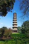 Japanische Pagode, Royal Botanic Gardens, Kew, UNESCO Weltkulturerbe, London, England, Vereinigtes Königreich, Europa