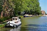 Près les écluses de Fonserannes, Canal du Midi, patrimoine mondial de l'UNESCO, Beziers, Herault, Languedoc, France, Europe