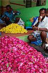 Flower market, Madurai, Tamil Nadu, India, Asia
