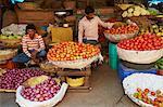 Vegetables for sale, Devaraja market, Mysore, Karnataka, India, Asia