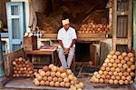 Coconuts for sale, Devaraja market, Mysore, Karnataka, India, Asia