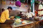 Flowers for sale, Devaraja market, Mysore, Karnataka, India, Asia