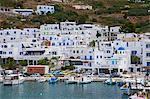 Aigiali ville et port, Amorgos, Cyclades, Aegean, îles grecques, Grèce, Europe