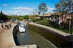 Sperren von Fonserannes, Canal du Midi, UNESCO Weltkulturerbe, Beziers, Herault, Languedoc, Frankreich, Europa
