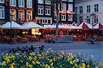 Rembrandtplein at dusk, Amsterdam, Holland, Europe