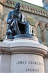 James Carmichael Statue, Albert Square, Dundee, Schottland