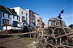 Casiers à homards au Havre de St Andrews, St Andrews, Fife, Écosse