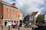 Market Place and Cross, Knaresborough, North Yorkshire, Yorkshire, England, United Kingdom, Europe