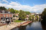 Ruderboote auf dem Fluss wichtige, Knaresborough, North Yorkshire, England