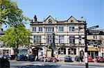 Skipton High Street and Library, Skipton, North Yorkshire, Yorkshire, England, United Kingdom, Europe