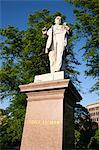 George Leeman statue, York, North Yorkshire, Yorkshire, England, United Kingdom, Europe