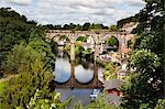 Knaresborough Viadukt und wichtige Fluss in Sommer, Knaresborough, North Yorkshire, Yorkshire, England, Vereinigtes Königreich, Europa