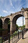 Knaresborough Viadukt über den Fluss wichtige, Knaresborough, North Yorkshire, Yorkshire, England, Vereinigtes Königreich, Europa