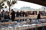 Used book market under Waterloo Bridge, South Bank, London, England, United Kingdom, Europe